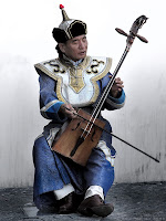 Mongolian Musician Playing the Morin Khuur