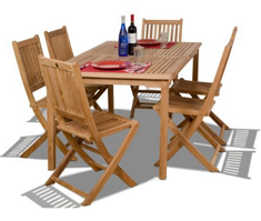 Amazonia Teak Prague 7-Piece Teak Rectangular Dining Set