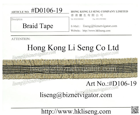 Braid Tape Manufacturer - Hong Kong Li Seng Co Ltd