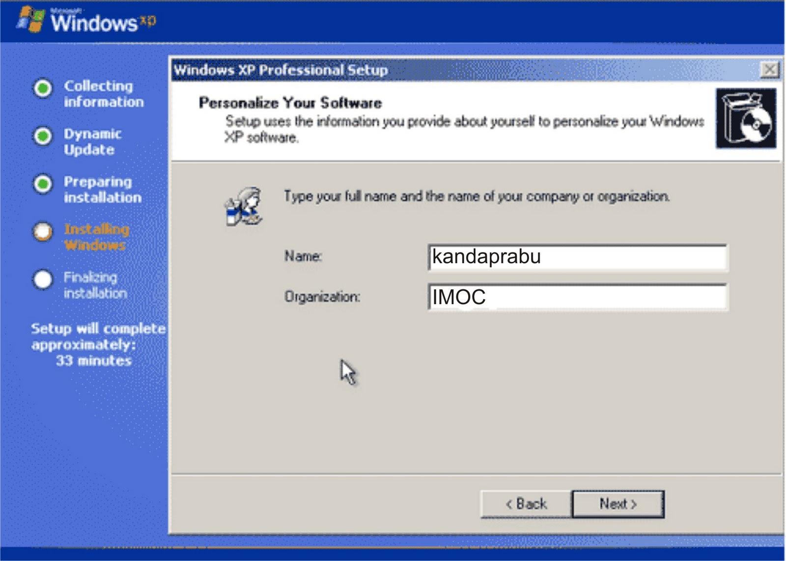 Cara instal ulang Windows XP   Mekatronika & Komputer