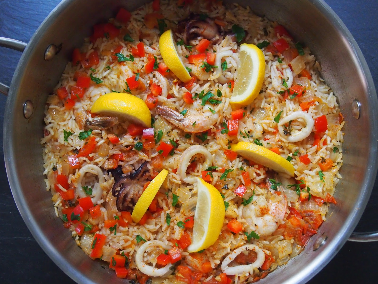 Cooking with Kale: Seafood Paella