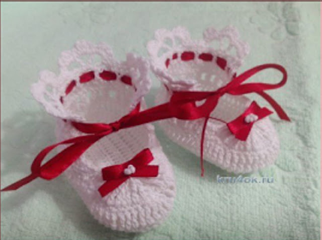 Zapatito de Bebe a Crochet