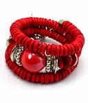 Strawberry Spiral Bracelet