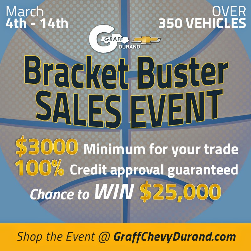 Bracket Buster Sales Event at Graff Chevy Durand!