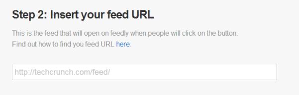 Paso 2: Inserta la dirección de tu feed