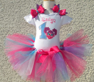 Abby Cadabby Birthday Girls Tutu Outfit Set