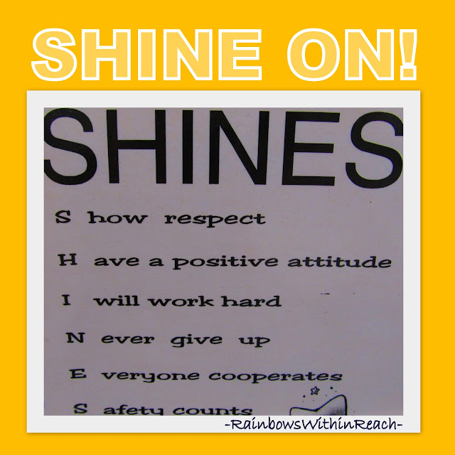 photo of: Classroom Behavior Acrostic Bulletin Board