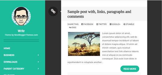 Template responsive blogger cho cá nhân