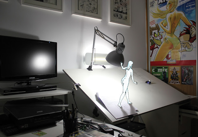 The muse in my studio 06 by Guillem March