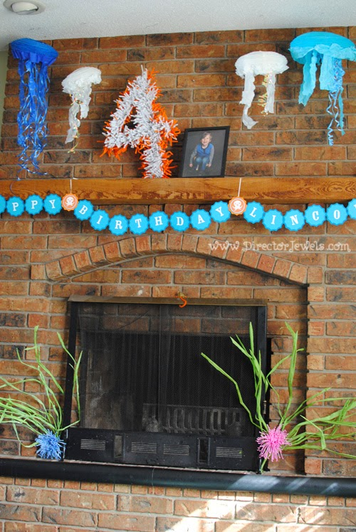 Jellyfish and Anemone Octonauts Birthday Party Decoration Ideas | Under the Sea Ocean Decor at directorjewels.com