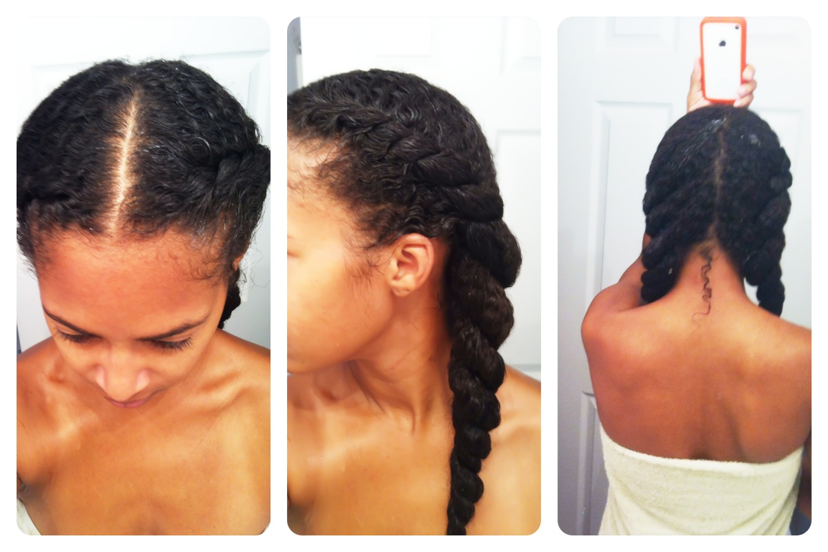Goddess Twist On Short Natural Hair