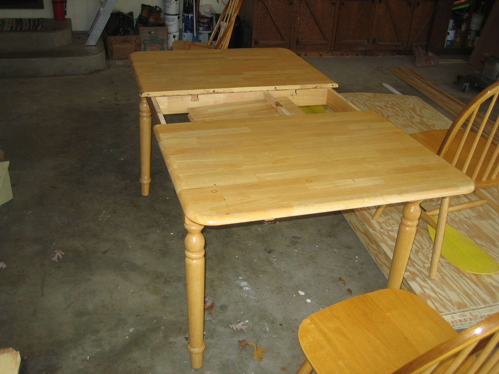 the yellow fern kitchen table makeover