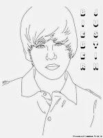 Gambar Hitam Putih Justin Bieber Untuk Diwarnai