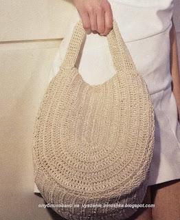 Вязаная сумка со схемой