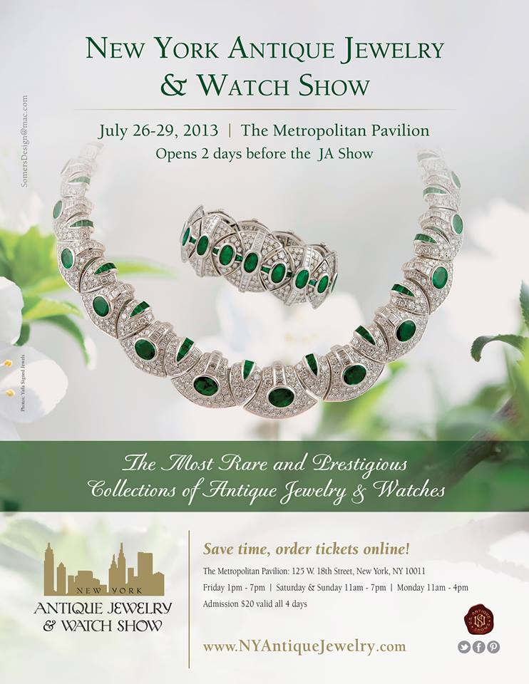 new york antique jewelry watch show july 26 29 2013