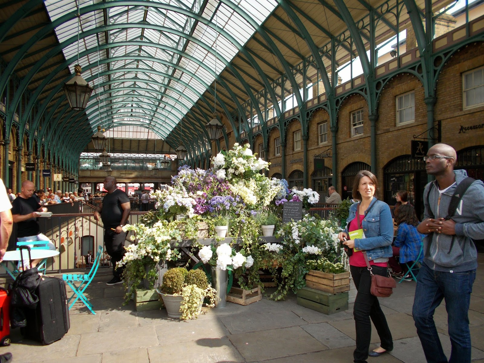 Covent garden flower market interior small 2 - The Flower Market Now Above And Then Below