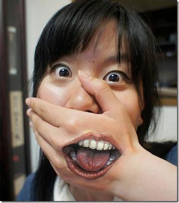 seni lukis tubuh - lensaglobe.blogspot.com