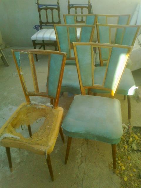 Reciclado de sillas y sillones seis sillas americanas for Reciclado de sillones