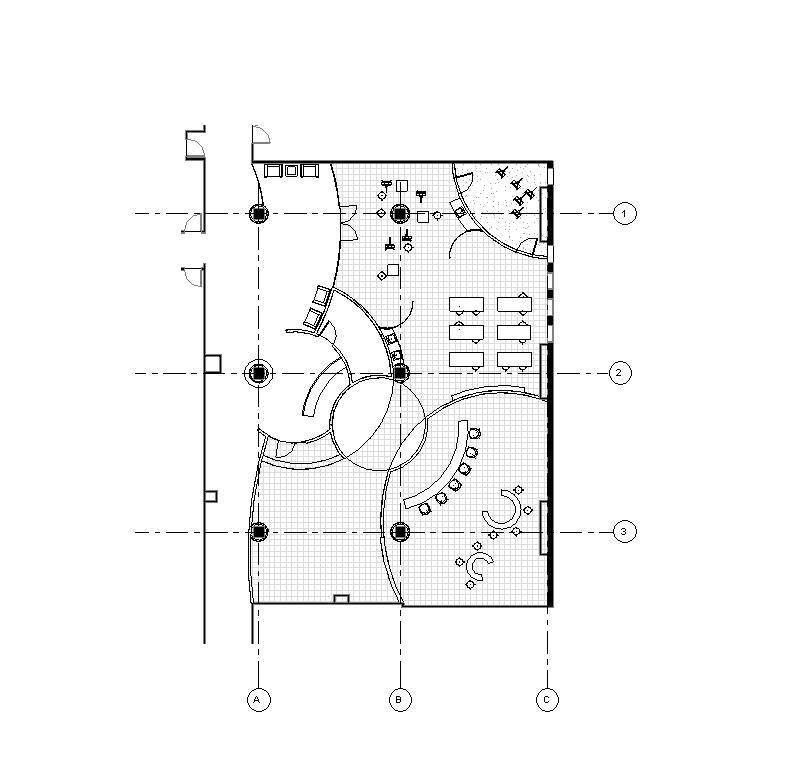 revit for interior design class  schematic model images