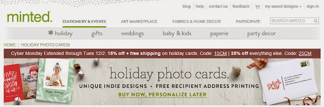 Minted Photo Holiday Cards | Taste As You Go