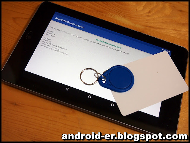 Android Nfc Example, To Read Tag Information Of Rfid Primal In Addition To Card