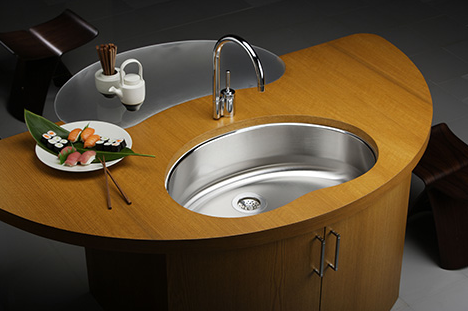 Cute And Practical, The Elkay Mystic Bean Kitchen Sink Adds A Fun  Characteristic To A Kitchen Necessity. The Likable Bean Shape Of The Modern  Sink Is Large ...