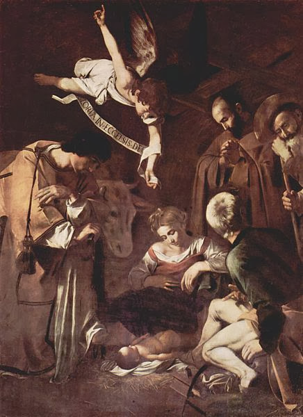 "Picture of ""The Adoration"" by Caravaggio, 1609 was stolen in 1969 from above the alter of a church in Palermo Sicily"