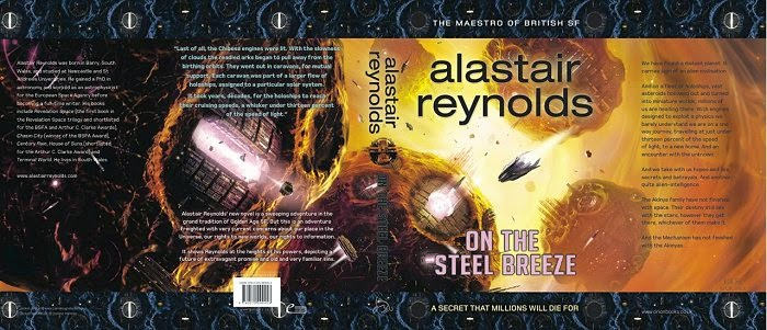 Alastair Reynolds On the Steel Breeze British book jacket