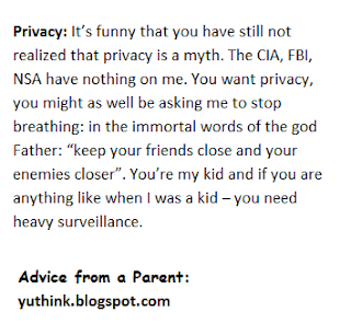 advice to children from parent