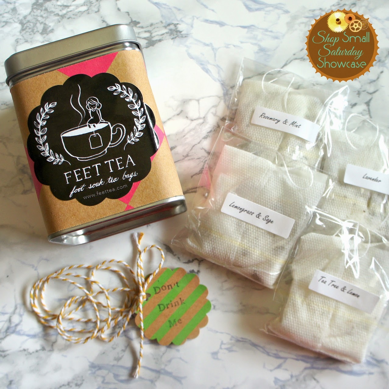 Feet Tea feature & GIVEAWAY on Shop Small Saturday at Diane's Vintage Zest!  #beauty #relax #spa #gift #aromatherapy