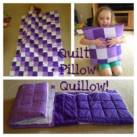 Stuff Amy Made: Quilt + Pillow = Quillow