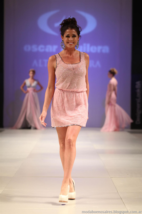 Oscar Aguilera primavera verano 2014. Vestidos primavera verano 2014.