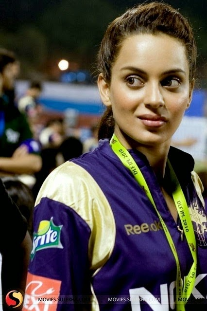 Kangana Ranaut Bollywood Celebrity Clothing in IPL 2014