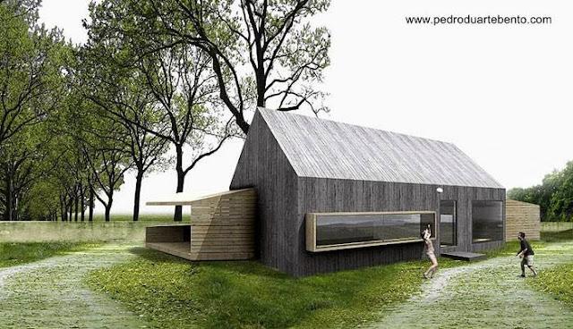Casa de campo tipo granero proyecto contemporáneo