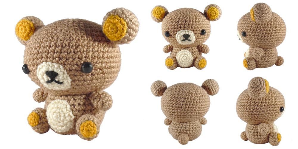 Amigurumi Rat : i crochet things: Pattern: Rilakkuma Bear Amigurumi