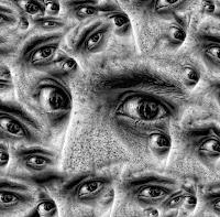 Image of many staring eyes