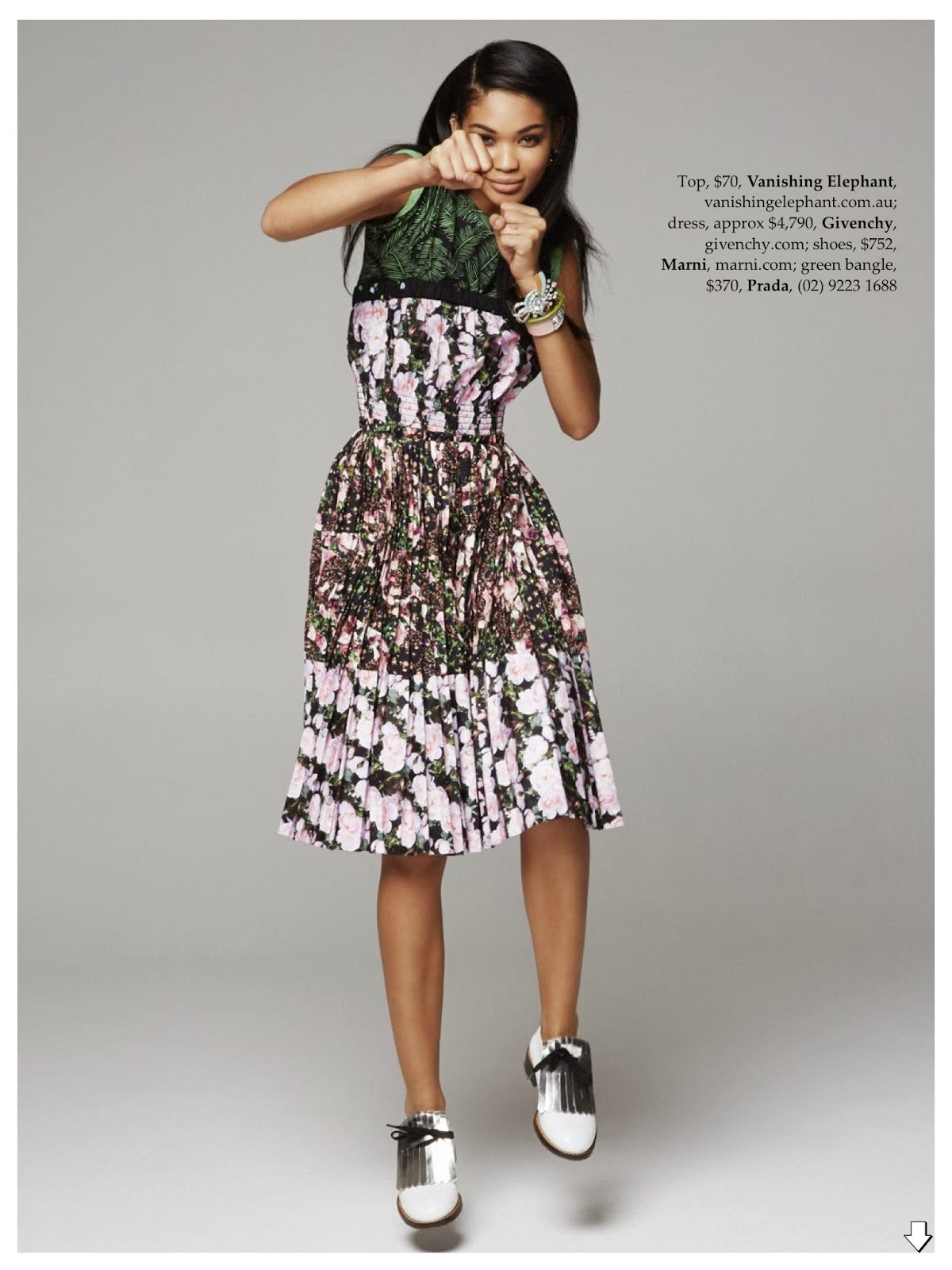 Magazine Photoshoot : Chanel Iman Photoshoot For Pierre Toussaint in Elle Magazine Australia February 2014 Issue