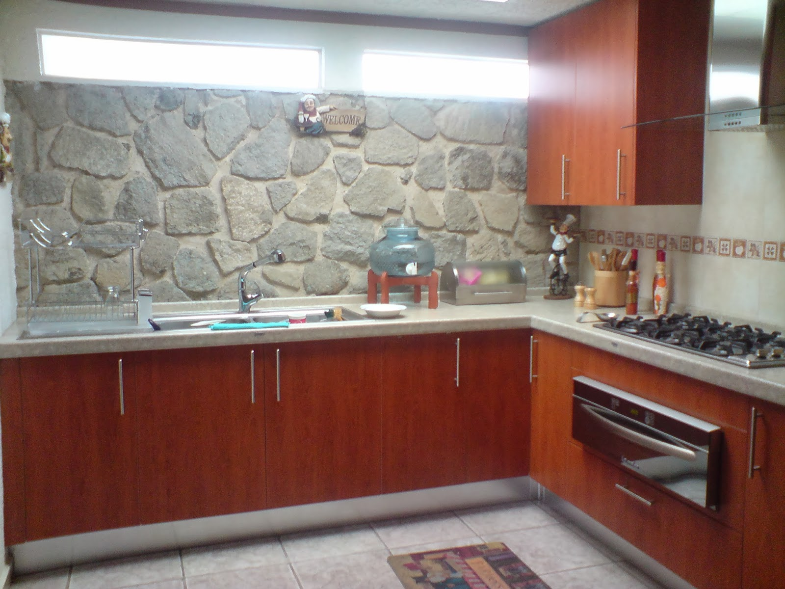 Dise o en cocinas integrales galeria cocinas material Mejor material para encimeras de cocina