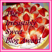 Irresistible sweet blog award