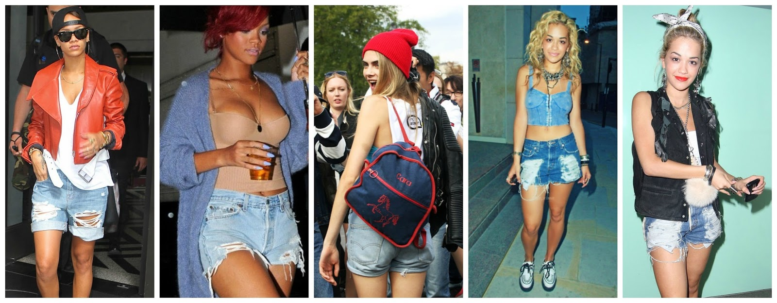 Rita Ora Ripped Jeans Rihanna, cara and rita show us