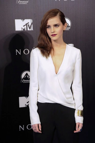 Emma Watson looking Hot in White top