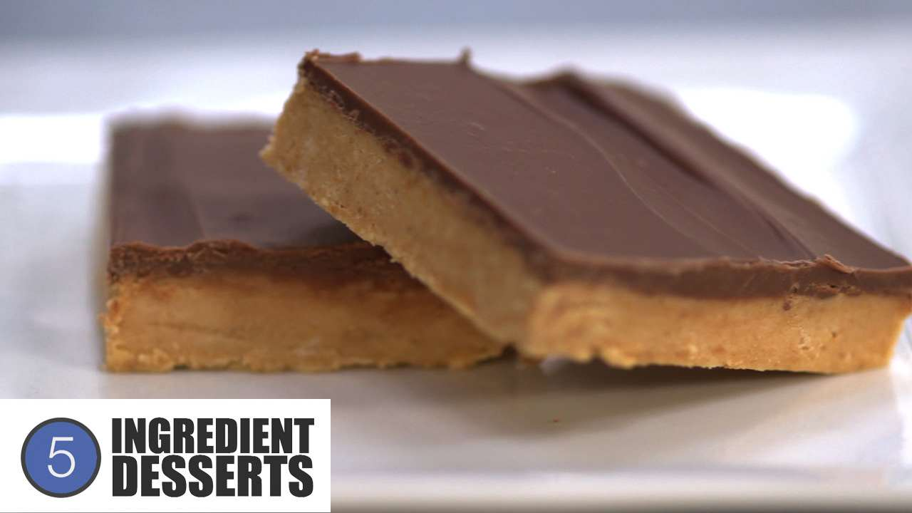 Chocolate Peanut Butter Squares | 5 Ingredient Desserts
