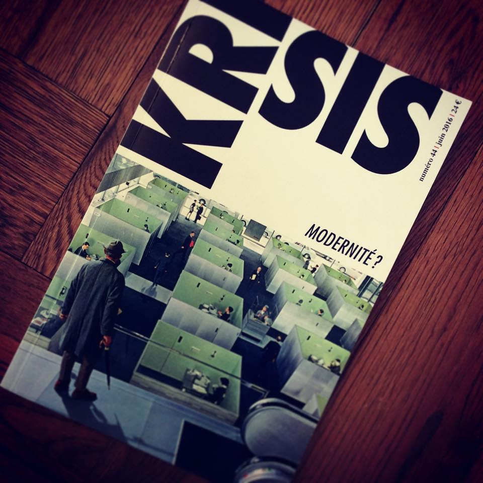 Découvrez la page Facebook de la revue Krisis