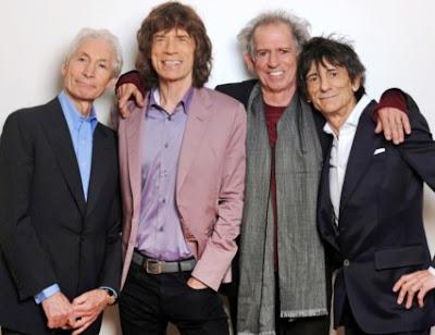 The Rolling Stones posando en la vejez
