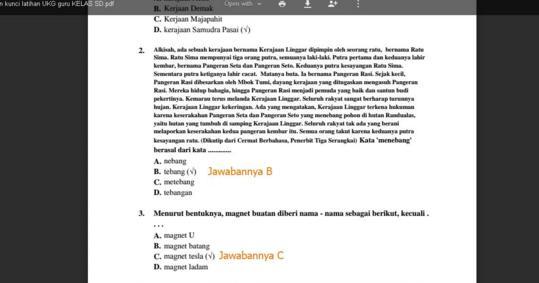 Soal Latihan Terbaru Ukg 2015 Sekolah Dasar Dan Kunci Jawaban Blog Wiki Edukasi