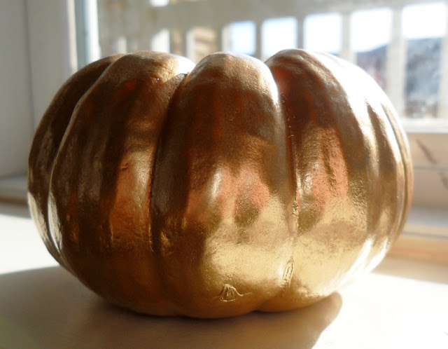 gold metallic pumpkins