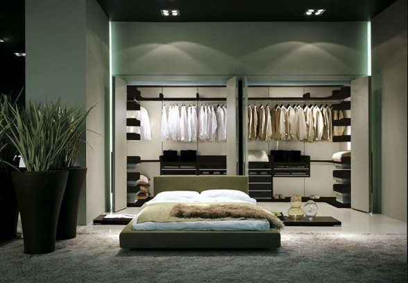 Large Clean Wardrobe Design