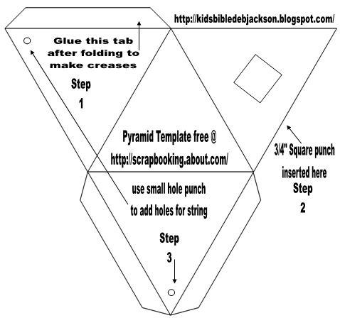 Pyramid Template Printable. fillable geometric shapes. pyramid ...