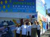 Grupo Bem com Diretor do SESI FIESP realizando AÇÃO GLOBAL no ESPAÇO CRIANÇA ESPERANÇA