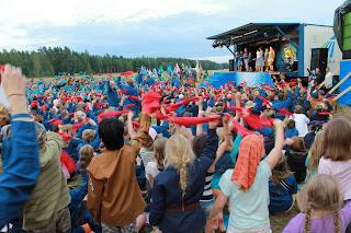 Tunnelmaa leirin päättäjäisistä (Kuva Jenni Holmström)